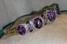 Chuck Clemency NYCII Sterling silver African Amethyst Cuff/Bangle Bracelet $595