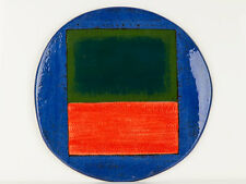 1994 John Pollex Pottery Abstract Wall Dish Plaque
