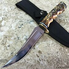 "9.5"" STAG UPSWEPT SKINNER HUNTING KNIFE sharp skinning survival 210914 -S"