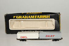 GRAHAM FARISH N SCALE CONTAINER TRANPSORT FLATCAR WITH OOCL / DART CONTAINERS