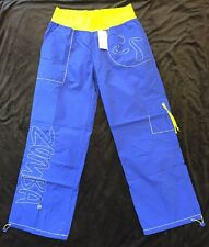 NEW Zumba Classic Nylon Cargo Pants Fitness Blue/Green Size 2XL workout dance