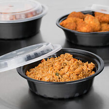 16 ounce oz BPA free Microwave Take Out Containers To Go plastic 150 sets