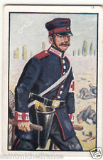 Stretcher Red Cross Prussia 1866 Deutsches Heer Germany Uniform IMAGE CARD 30s