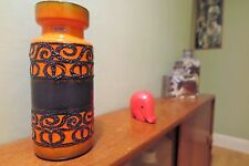 Tall Orange FAT LAVA West Germany Vase by Scheurich, 30cm Heigh