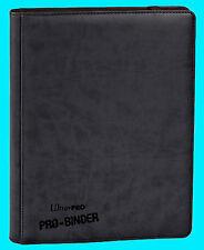 ULTRA PRO 9 POCKET PREMIUM  LEATHERETTE BLACK BINDER STORAGE 360 Card 20 Pages