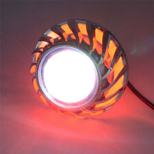 RED High/Low Beam LED Projector Headlight For Motorcycle Angel Eyes Devil Eyes