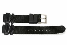 FREESTYLE 18MM BLACK NYLON RUBBER WATERPROOF WATCH BAND STRAP