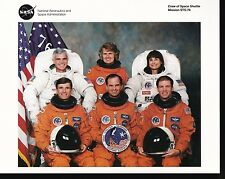 STS-76 SPACE SHUTTLE CREW PHOTO 8 X 10 NASA WITH LETTER