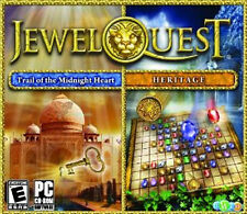 JEWEL QUEST 4 HERITAGE & MYSTERIES 2 Trail of the Midnight Heart 2x PC Games NEW