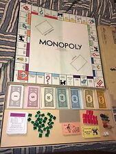 Vintage 1946 Monopoly Board Game Parker Brothers USA Wood Pieces No Instructions