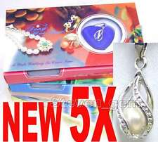 SALE 5 Box helix(drop) pendant Natural Wish Pearl Necklace gift set Box-who120_5