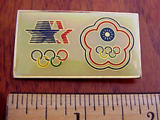 1984 LA OLYMPICS With Compliments CHINA CHINESE TAIPEI OLYMPIC COMMITTEE Pin