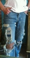 "Sass & Bide ""ALL IN ONE"" Custom Made Limited Edition Distressed Jeans sz 28 RARE"