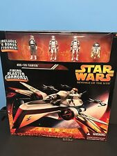 Star Wars Revenge Of The Sith Arc-170 Fighter W/ 4 Bonus Figures Sealed