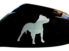 Pitbull Dog Car Sticker Wing Mirror Styling Decals (Set of 2), Chrome