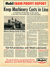 1964 Print Ad of Mobil Oil Farm Profit Report with Allis Chalmers AC D17 Tractor