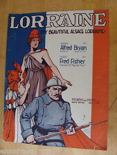 My Beautiful Alsace Lorraone 1917 WWI sheet music by Bryan & Fisher