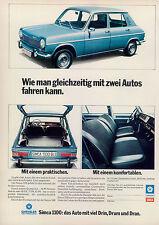 Simca-1100-1974-II-Reklame-Werbung-vintage print ad-Vintage Publicidad