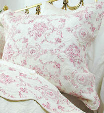 Bnwt Powell Craft Red Floral Pillowcase Quilted Beautiful  65x65cm