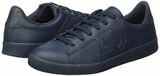 Armani Jeans men's blue leather sneakers size 8UK (42EU)