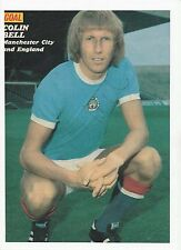 COLIN BELL MANCHESTER CITY 1965-1979 ORIGINAL HAND SIGNED MAGAZINE CUTTING