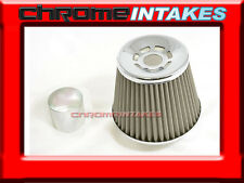 """SILVER UNIVERSAL 3"""" CONICAL AIR FILTER FOR SUBARU/SCION AIR INTAKE+PIPE"""