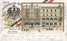 Gruss aus d. Hohenzollern-Hof, Dresden-A., Hotel I.Ranges, Postkarte 1906