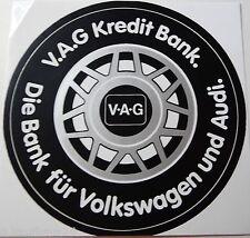 Aufkleber V.A.G Kreditbank VOLKSWAGEN AUDI 80er Sticker Autocollant Youngtimer