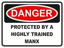 Cat Breed MANX Danger Sticker Pet for Bumper Locker Car Door