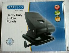 RAPESCO PERFORATOR HEAVY DUTY 2-HOLE PUNCH PF835PB2 - BLACK