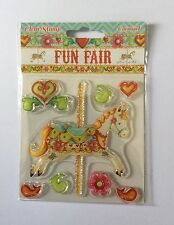 Fun Fair Carousel Rubber Stamp by Helz Cuppleditch