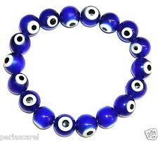 PULSERA de OJOS TURCOS  Azules 10 mm Preciosa y Protectora del Mal de Ojo