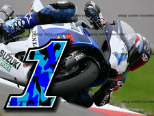 blue camo number 1 made for suzuki gsxr motorcycles