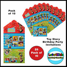 TOY STORY WOODY BUZZ LIGHTYEAR BIRTHDAY PARTY INVITATIONS - PACK OF 10