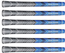 6) Six Golf Pride New Decade Plus4 MultiCompound BLUE Standard Size Authentic