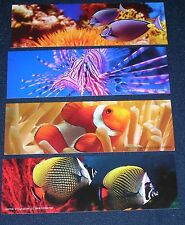SET OF 8 TROPICAL FISH - 4 DIFFERENT BOOKMARKS
