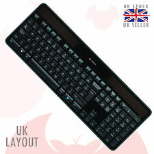 K750 logitech wireless solar keyboard pour windows ® qwerty, mise en page uk noir, un