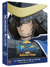 Sengoku Basara . Samurai Kings . The Complete Season 1 & 2 . Anime . 4 DVD . NEU