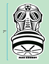 Large Gas Mask Sticker by Atomic Kustom Kulture Artist MAX GRUNDY Art USA