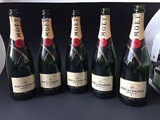 5 Moët Chandon Brut Imperial 0,75 Champagner Flaschen leer Deko Shisha Bar Lampe