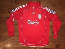 Men's XL adidas CLIMA365 Liverpool 2006-08 Peter Crouch #15 L/S Soccer Jersey