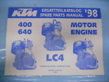 1998 KTM 400 640 LC4 Engine Spare Parts Manual 320445