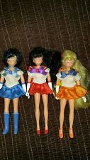"2000 Irwin Sailor Moon 6"" Mini Mercury,Venus & Mars Doll Dolls Set Rare Lot"