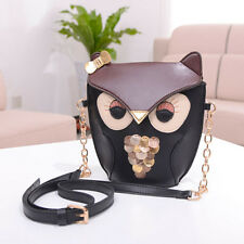 Women Girl Owl Print Shoulder Bag Cross Body Purse Satchel Messenger  Handbag