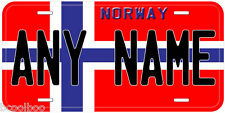 Norway Flag Aluminum Novelty Car License Plate