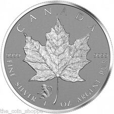 2016 1 oz Monkey Privy Canadian Silver Maple Leaf Reverse Proof Coin *IN STOCK*