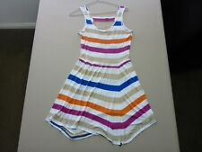 095 WOMENS NWOT ROXY WHITE / SAND / ORANGE / PURPLE SLEEVELESS DRESS 8 $60.