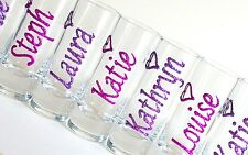 Hen Night Accessories Personalised Glitter Shot Glasses Stag Do Party Favours