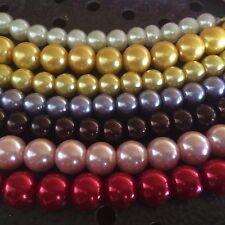 7 x  Ketten Perlenketten 43cm / 7-10mm Halsketten Perlen - Modeschmuck Ketten