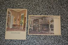 VTG 1940s POSTCARDS Ruth Perkins Safford Lee Mansion Summer Kitchen General Lee